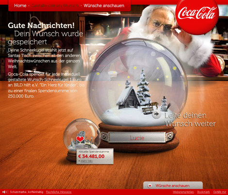 Coca-Cola Weihnachtsaktion 2010