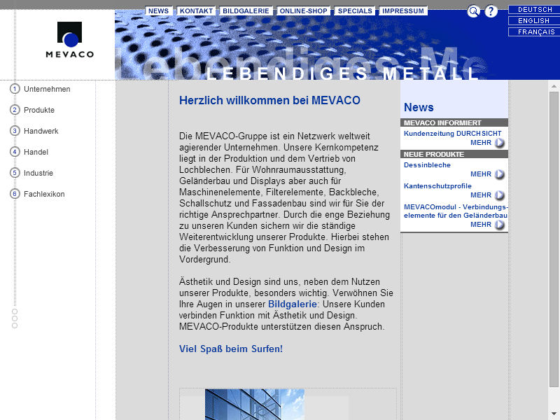 MEVACO Website