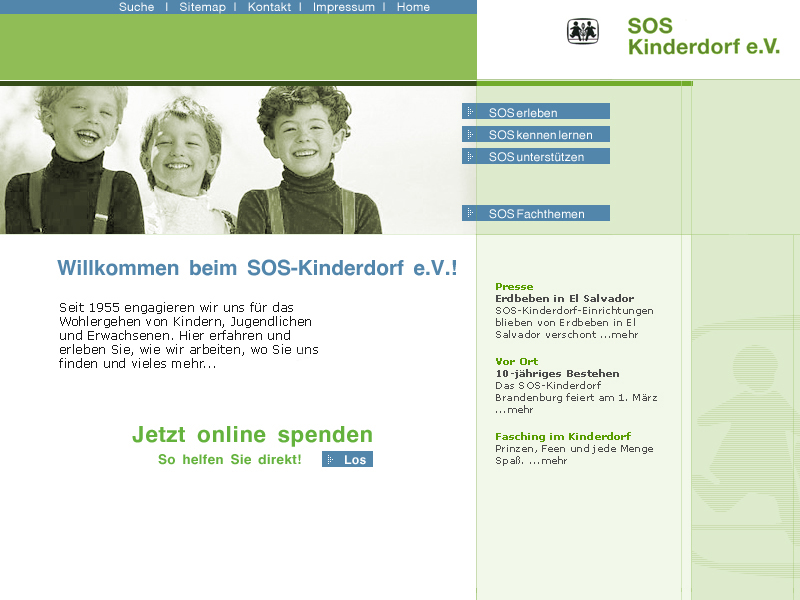 SOS-Kinderdorf Website