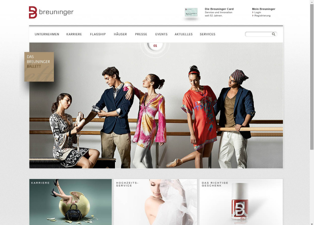 Breuninger Website 2011