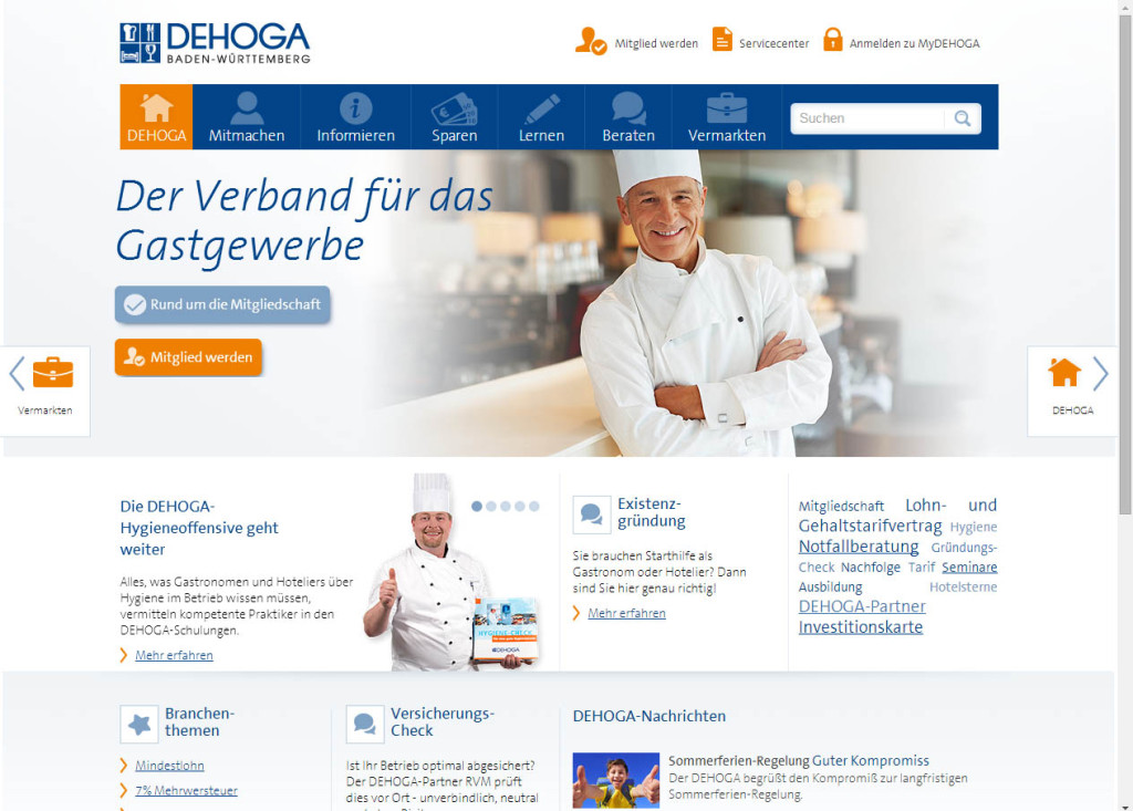 DEHOGA BW Website