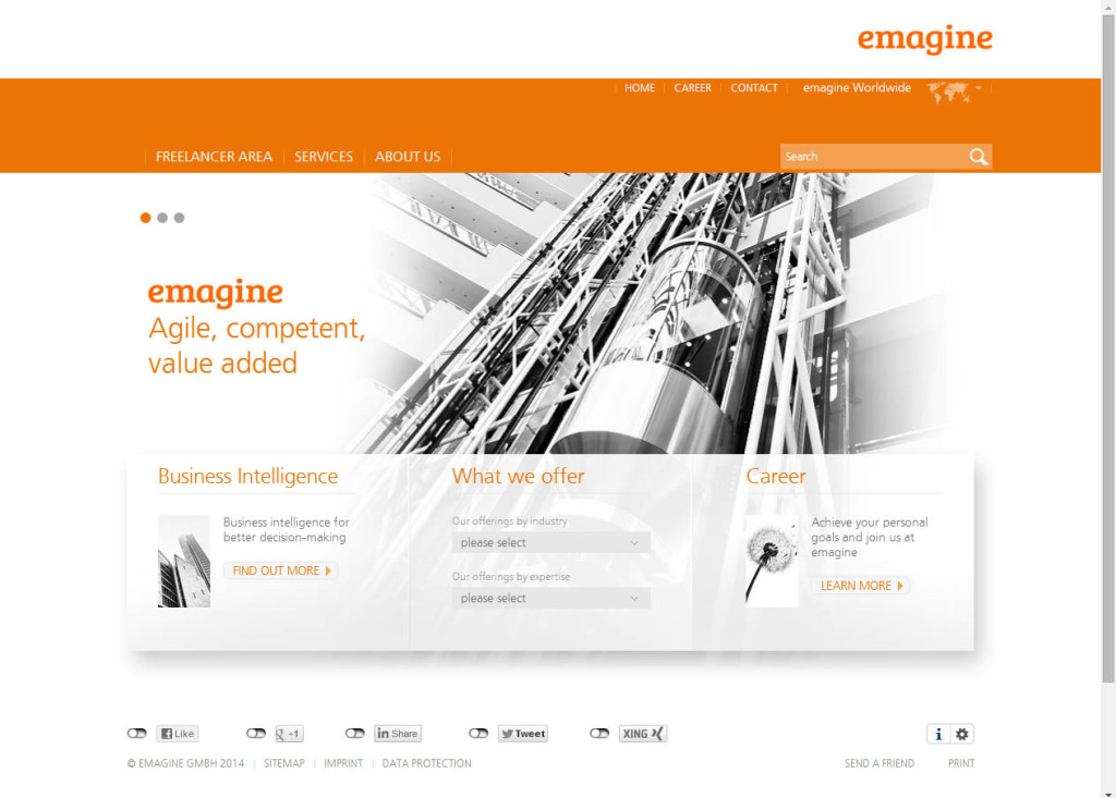 emagine Website