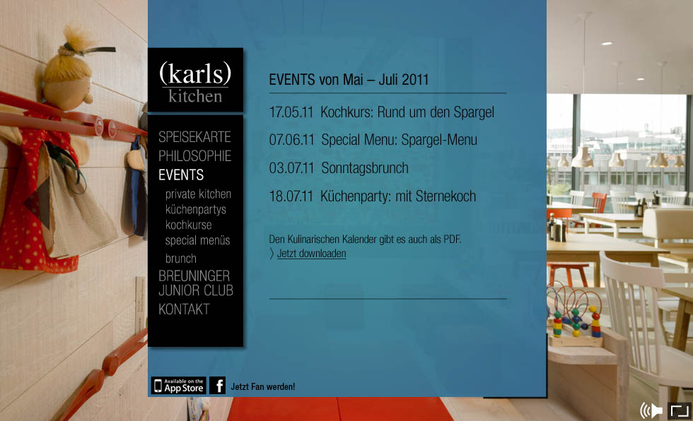 (karls) kitchen Website