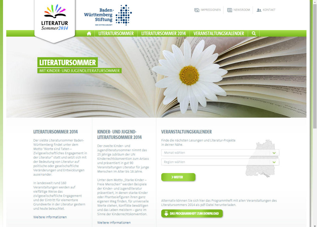 Literatursommer Website