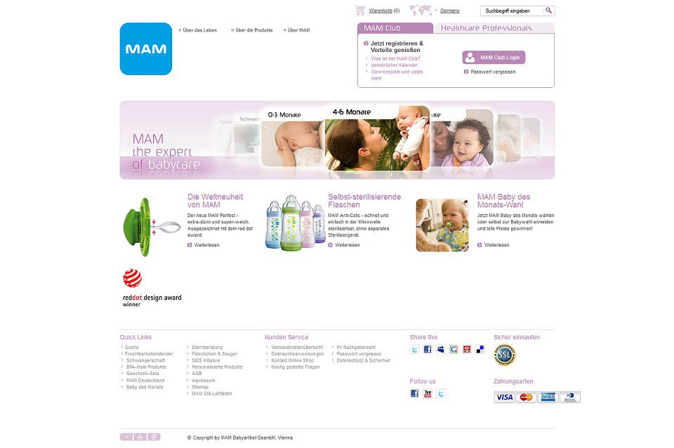 MAM-Website