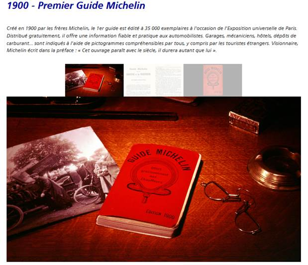 Der erste Guide Michelin (Quelle: Website Michelin)